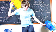 Cute teen gay boy is being naughty and happy